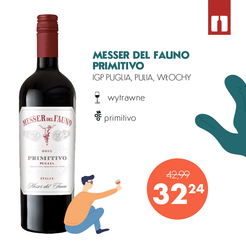 Wino na weekend Messer del Fauno Primitivo