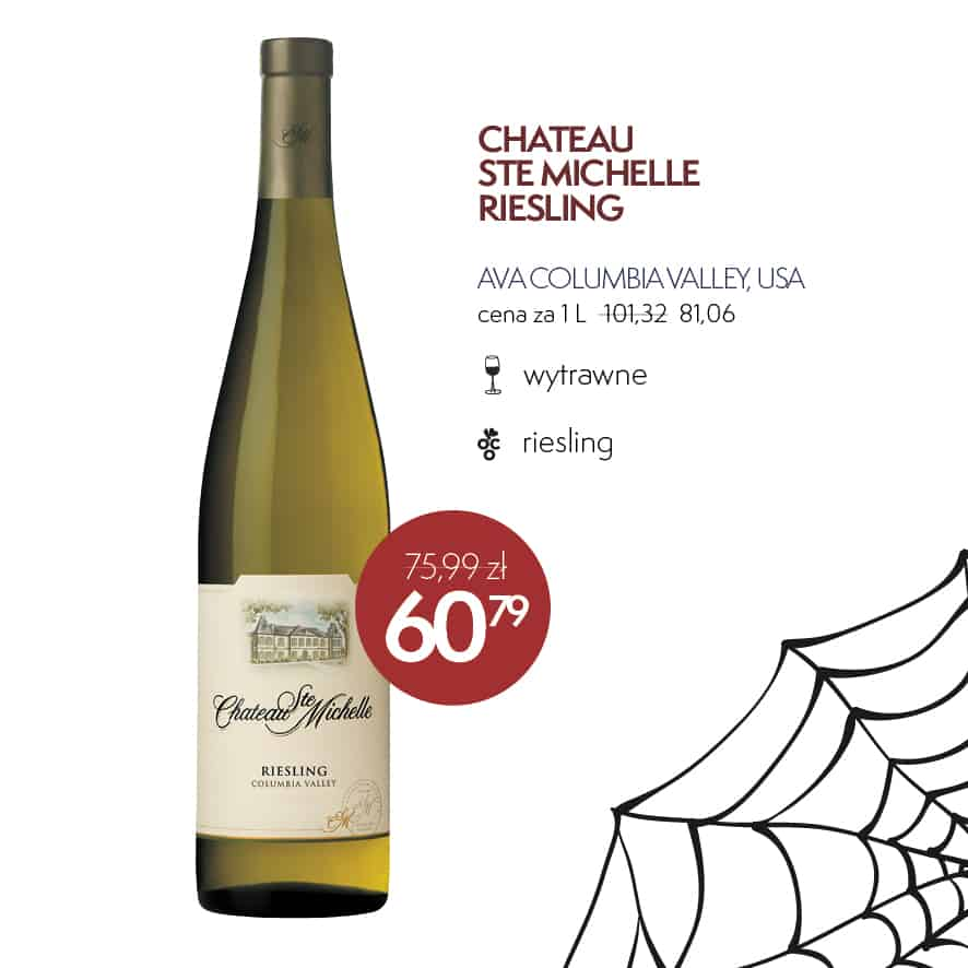 Wino na Halloween - Chateau Ste Michelle Riesling